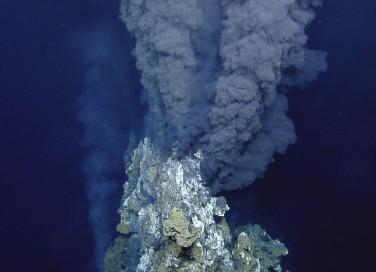 A black smoker containing iron sulphide