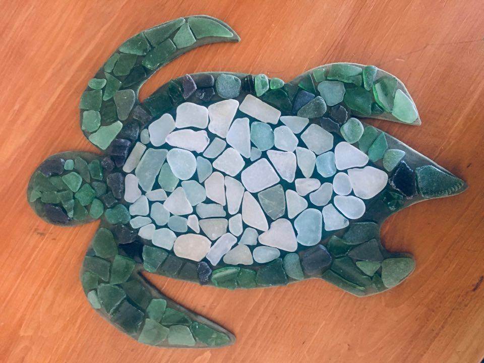 Seaglass turtle